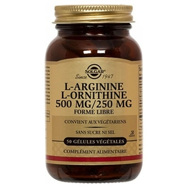 L-arginine l-ornithine 500/250g - solgar -198286