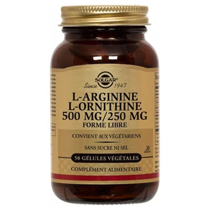 L-arginine l-ornithine 500/250g Solgar-198286