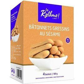 La rythmo bâtonnets gressins au sésame 4 sachets - ysonut -221720