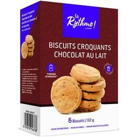 La rythmo biscuits croquants chocolat au lait 6 biscuits - ysonut -221732