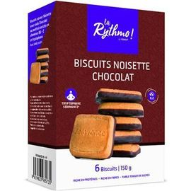 La rythmo biscuits noisette chocolat 6 biscuits - ysonut -221730