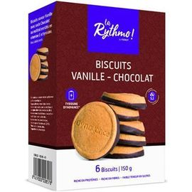 La rythmo biscuits vanille chocolat 6 biscuits - ysonut -221747
