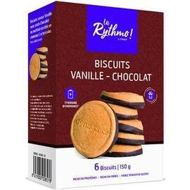 La rythmo biscuits vanille chocolat 6 biscuits - ysonut -221747