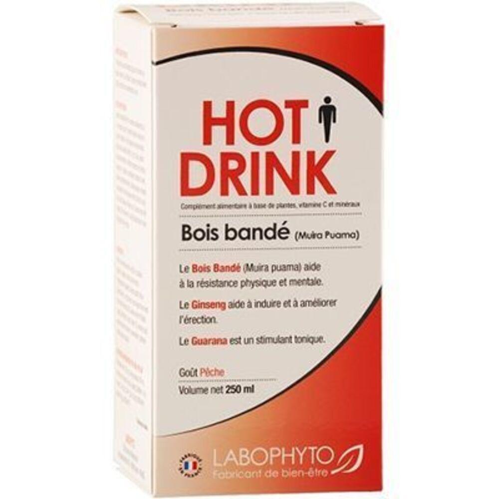 LABOPHYTO Hot Drink Bois Bandé Goût Pêche Homme 250ml - Labophyto -220987