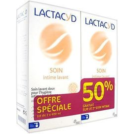 Lactacyd intimo soin intime lavant 2x400ml - lactacyd -145886