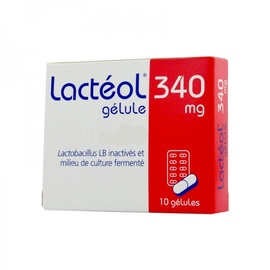 Lacteol 340mg - 10 gelules - aptalis pharma -192812