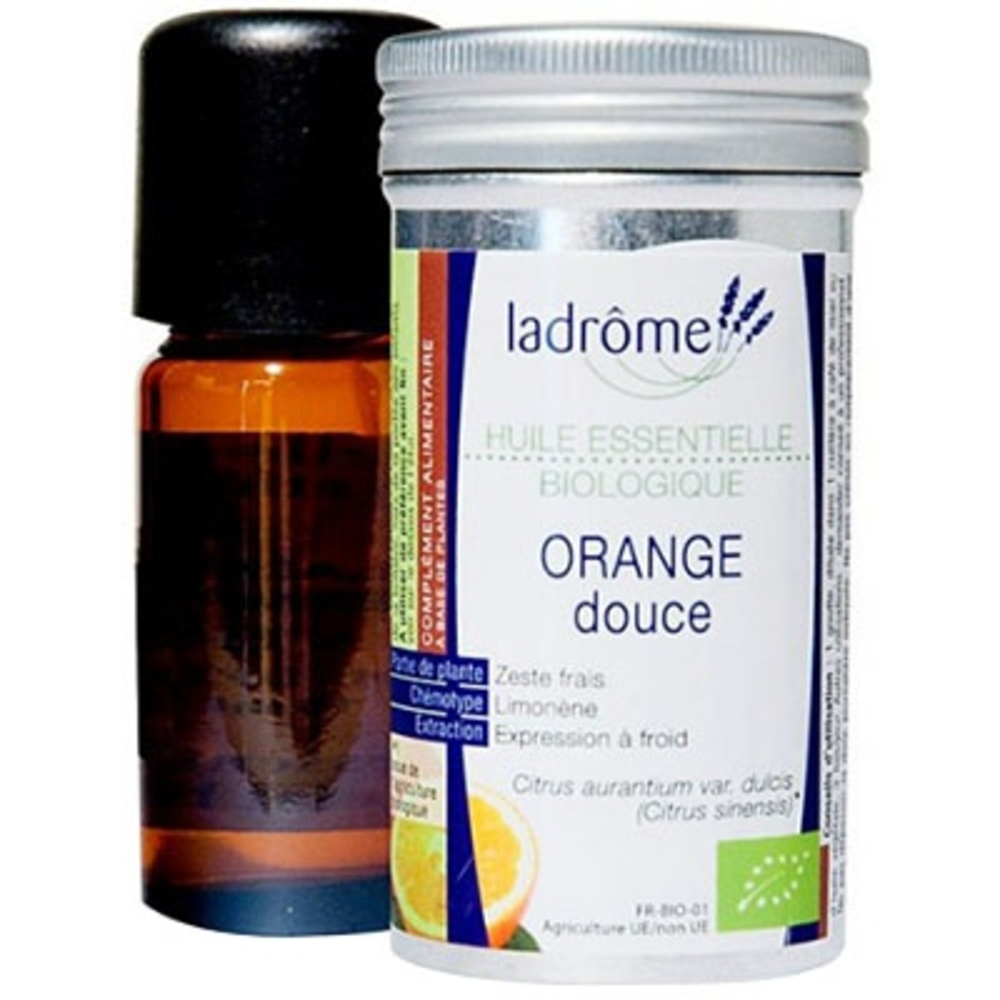 Ladrome bio huile essentielle d'orange douce - 10.0 ml - huiles essentielles - ladrôme -7670