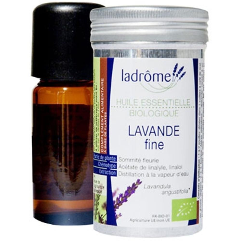 LADROME BIO Huile Essentielle de Lavande Fine - 10ml - 10.0 ml - Huiles essentielles - Ladrôme -7660