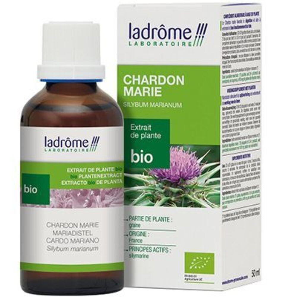 Ladrome extrait de plante bio chardon marie 50ml - 50.0 ml - extraits de plantes fraîches - ladrôme Digestion-7822