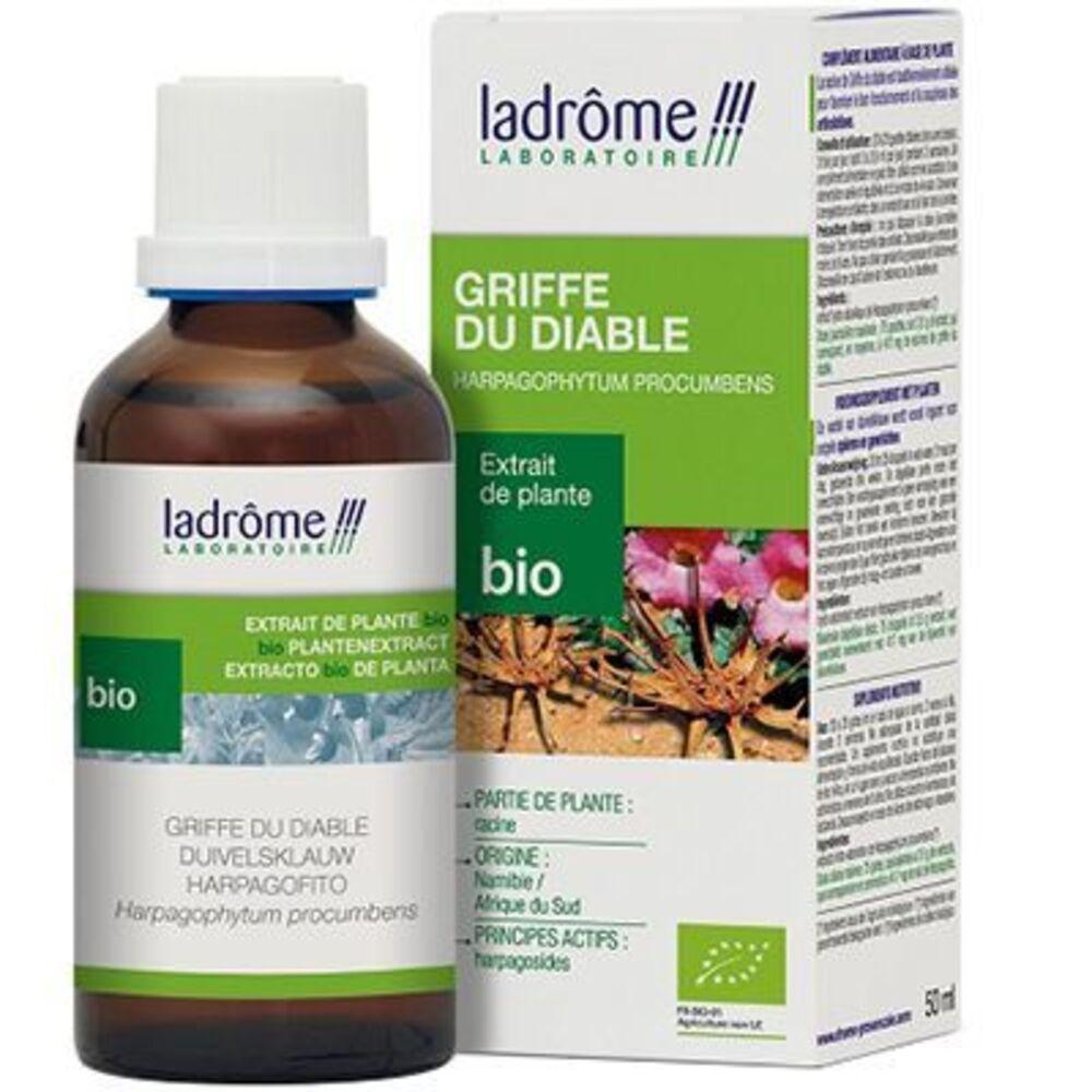 LADROME Extrait de Plante Bio Griffe du Diable - Harpagophytum 50ml - 50.0 ml - Extraits de Plantes Fraîches - Ladrôme Articulation-7830