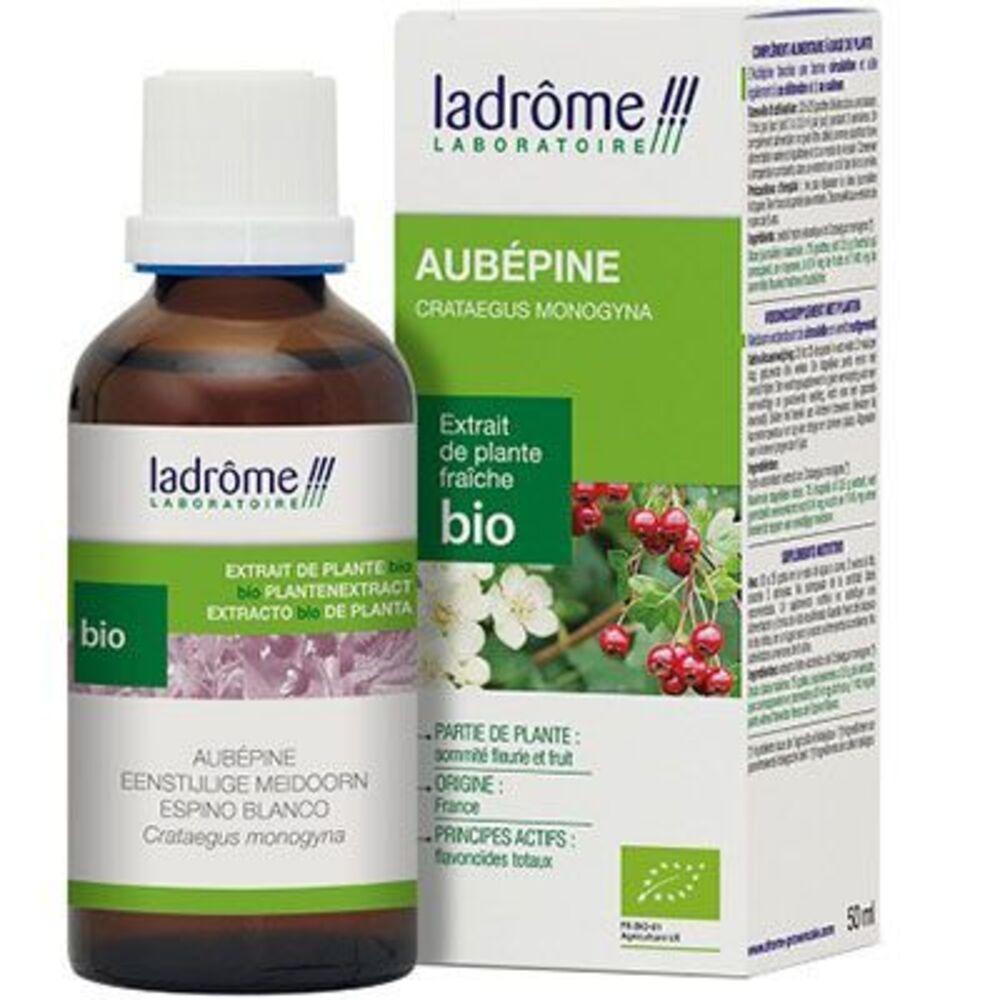 Ladrome extrait de plante fraîche bio aubépine 50ml - 50.0 ml - extraits de plantes fraîches - ladrôme Circulation-7818