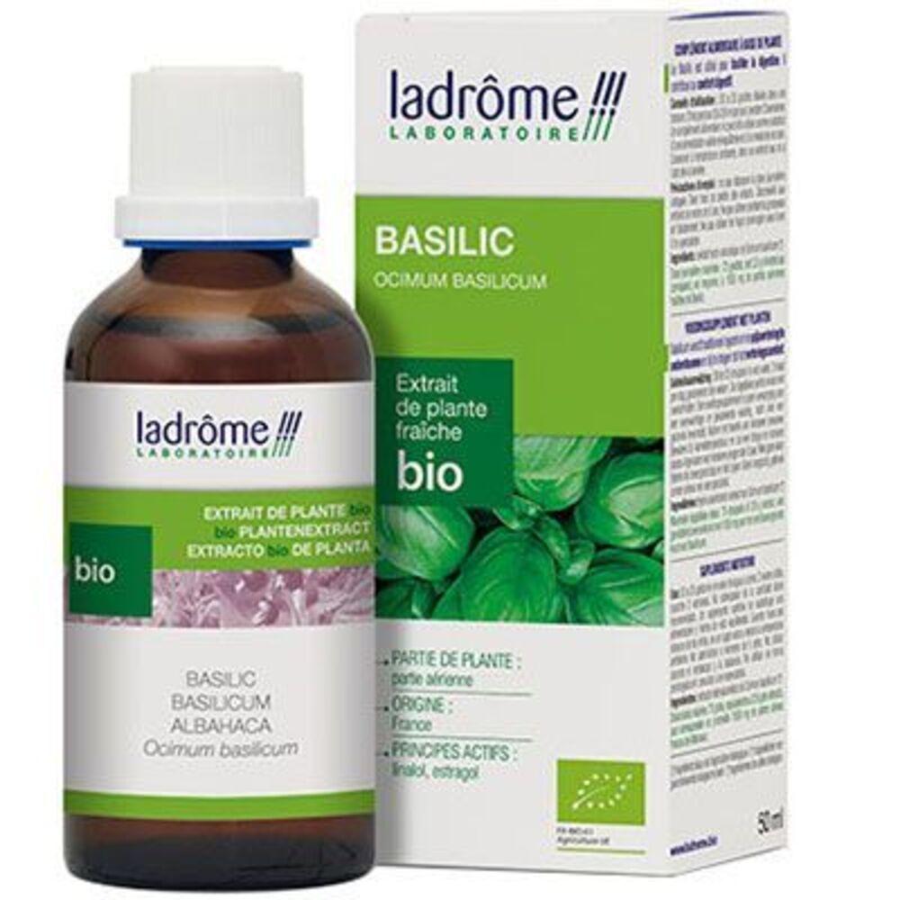 Ladrome extrait de plante fraîche bio basilic 50ml - 50.0 ml - extraits de plantes fraîches - ladrôme Digestion-7819