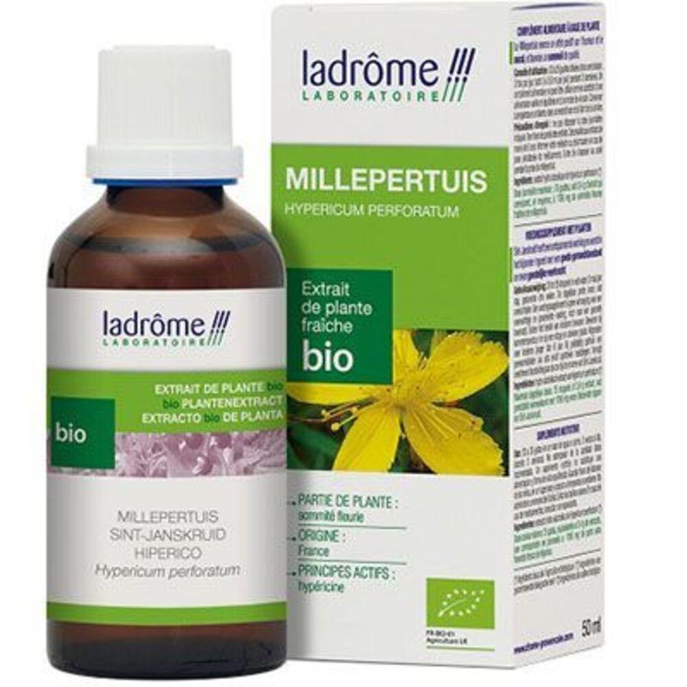 Ladrome extrait de plante fraîche bio millepertuis 50ml - 50.0 ml - extraits de plantes fraîches - ladrôme -7838