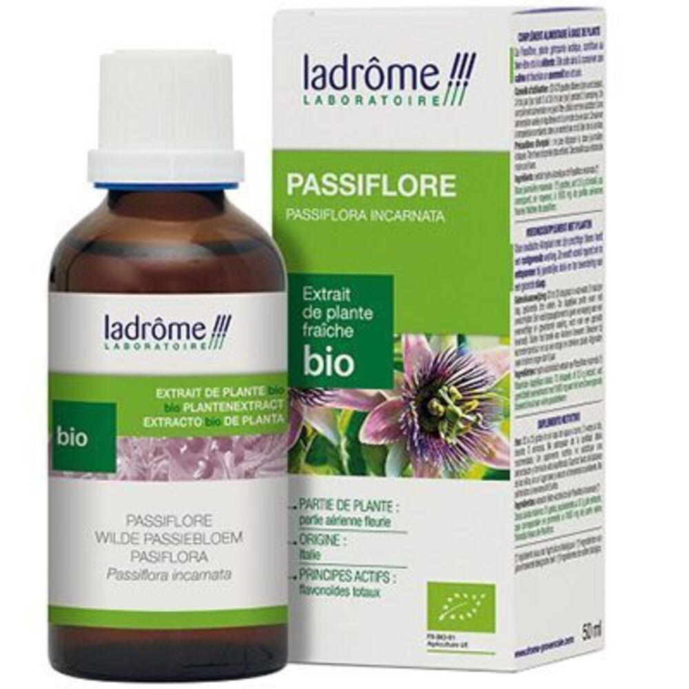 Ladrome extrait de plante fraîche bio passiflore 50ml - 50.0 ml - extraits de plantes fraîches - ladrôme Détente-7840