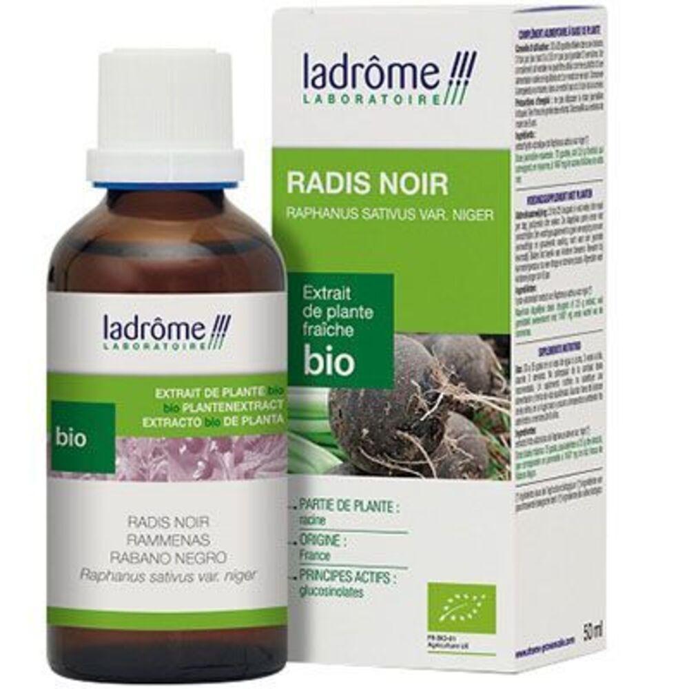 Ladrome extrait de plante fraîche bio radis noir 50ml - 50.0 ml - extraits de plantes fraîches - ladrôme Digestion-7845