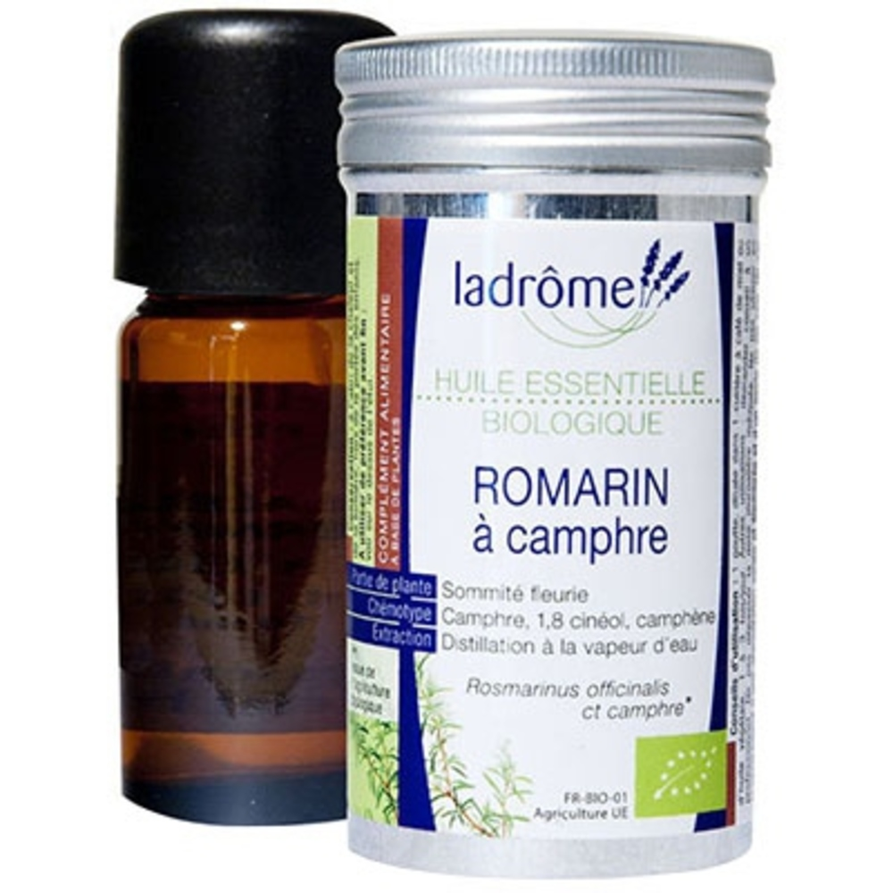 Ladrome huile essentielle de romarin à camphre - 10.0 ml - huiles essentielles - ladrôme -7677