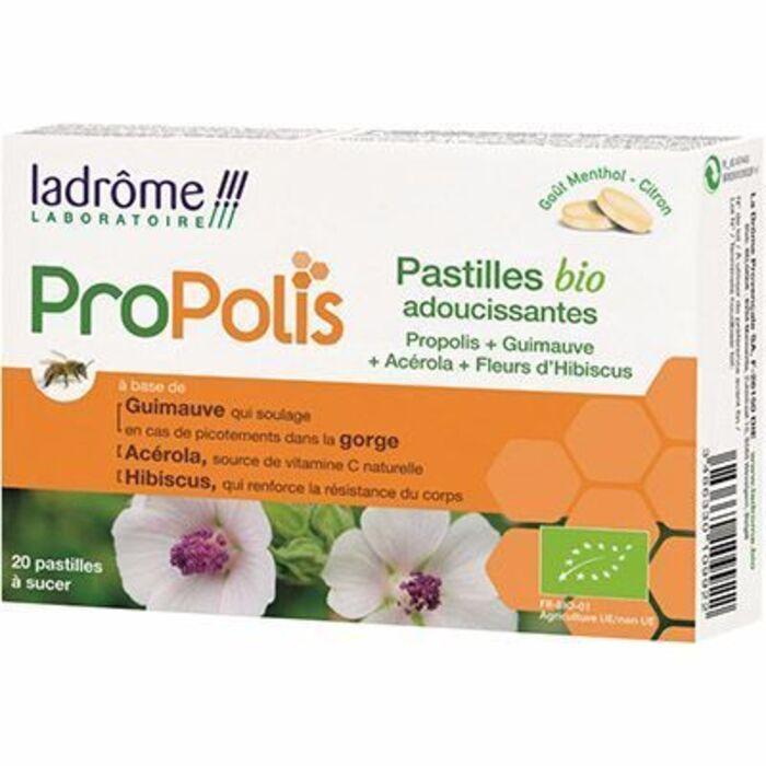 Ladrome propolis 20 pastilles bio adoucissantes Ladrôme-215399