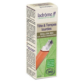 Ladrome tête & tempes lourdes roll'on bio - 5.0 ml - soins roll'on - ladrôme -140562