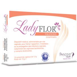 Ladyflor vaginosis 10 comprimés vaginaux - procare health -222997