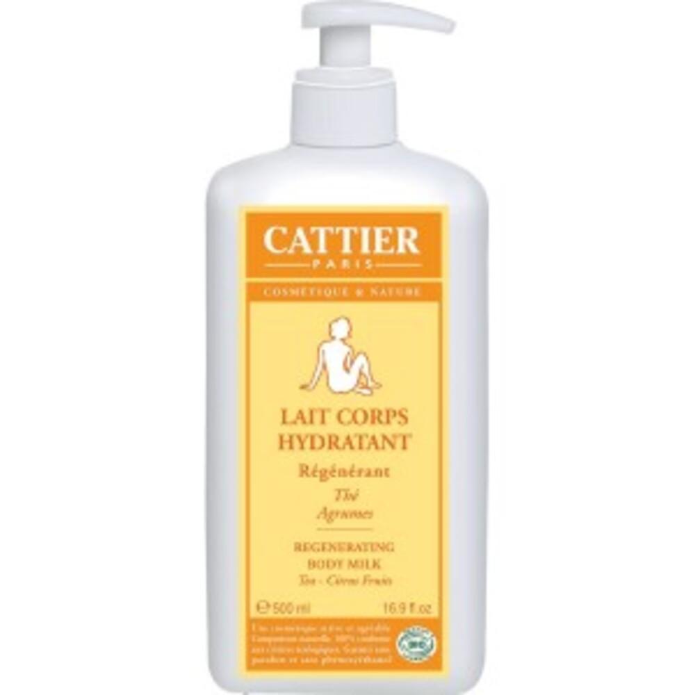 Lait corps - régénérant bio thé agrumes - 500.0 ml - lait corps hydratant - cattier Stimule et régénère l'épiderme-1527