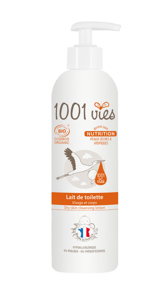 Lait de toilette bio, nutrition - 400.0 ml - divers - 1001 vies Nettoie et Nourrit-188658