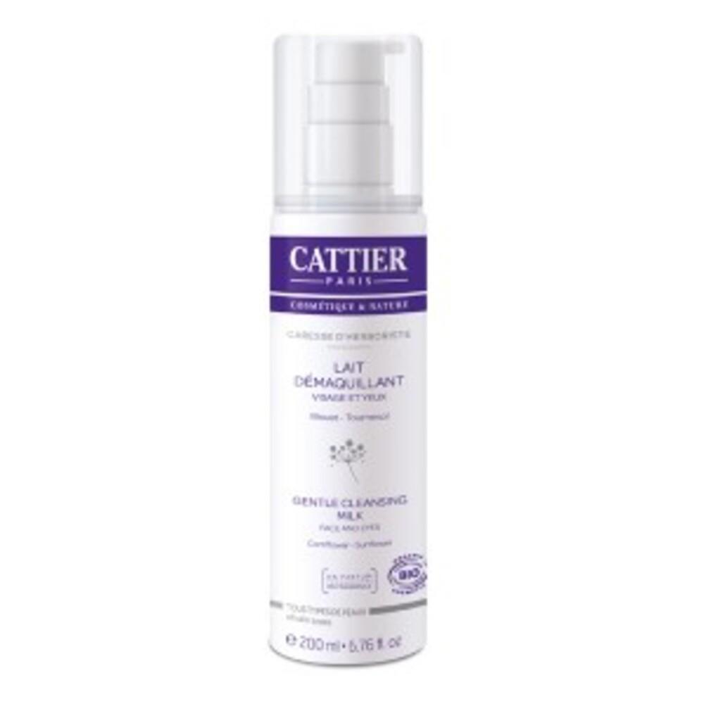Lait démaquillant bio - caresse d'herboriste - 200.0 ml - visage - cattier Elimine maquillage et impuretés-1566