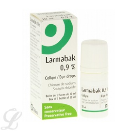 Larmabak 0,9% collyre - 10.0 ml - thea -192289