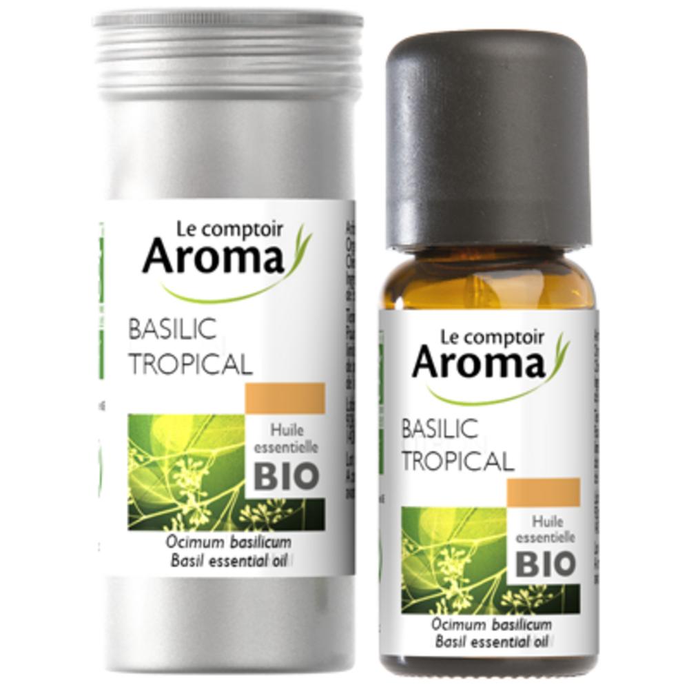 Le comptoir aroma huile essentielle bio basilic tropical 10ml - le comptoir aroma -221994