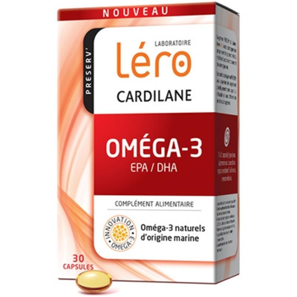 Lero cardilane oméga-3 - 30 capsules - lero -210933