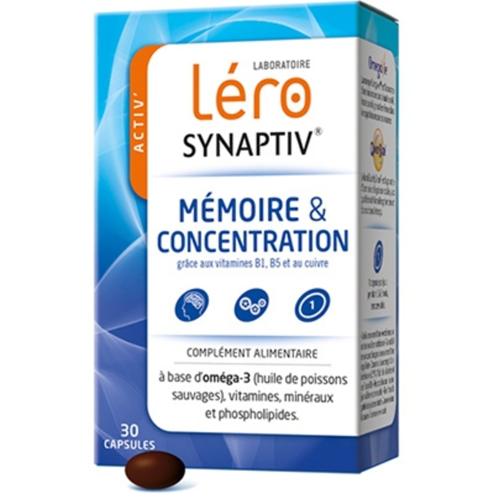 Lero synaptiv concentration intellectuelle - 30 capsules - lero -190549