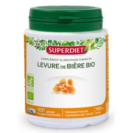 Levure de bière bio - 100 gélules - super diet -205429