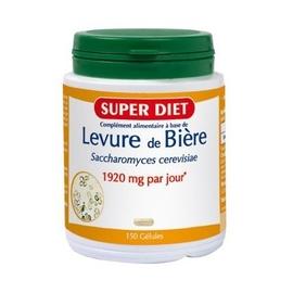 Levure de biere saccharomyces cerevis - 150.0 unites - les super nutriments - super diet Beauté des ongles et des cheveux-4473