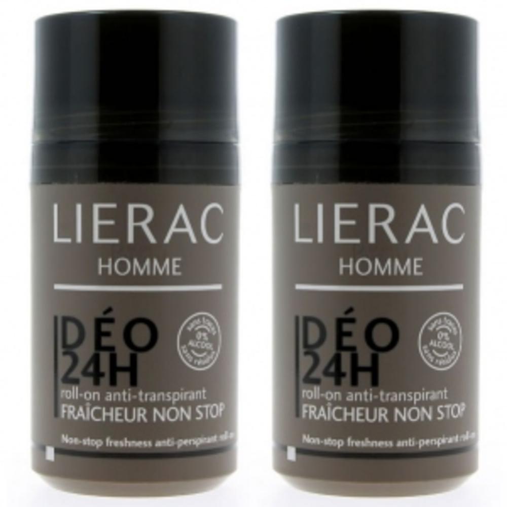 Lierac homme déodorant 24h - lot de 2 - 50.0 ml - lierac homme -138759
