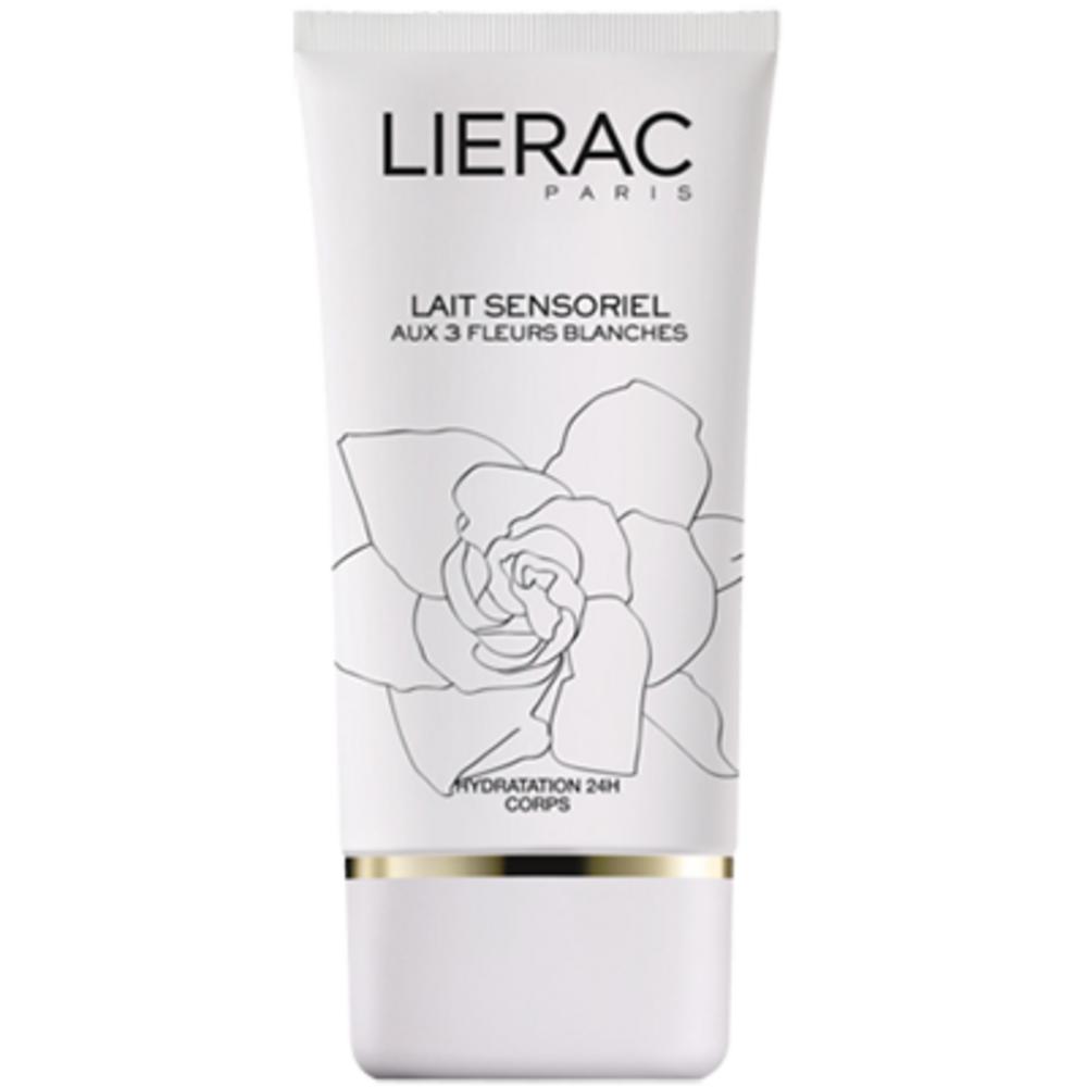 Lierac lait sensoriel aux 3 fleurs - collection blanche - 150.0 ml - les sensorielles - lierac hydratation 24h-106924