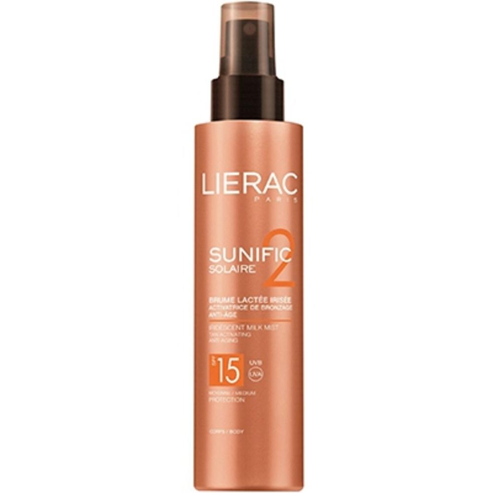Lierac SUNIFIC Solaire Brume Lactée Irisée SPF15 - 150.0 ml - Solaire Sunific - Lierac Activateur de bronzage - Anti-âge-133178