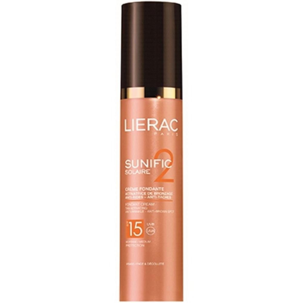 Lierac sunific solaire crème fondante spf15 - 50.0 ml - solaire sunific - lierac Activatrice de bronzage Anti-rides - Anti-taches-133177