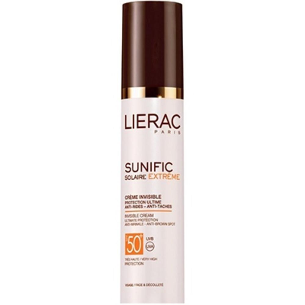 Lierac sunific solaire extrême crème invisible spf50+ 50ml - 50.0 ml - solaire sunific - lierac Protection ultime anti-rides anti-tâches-133172