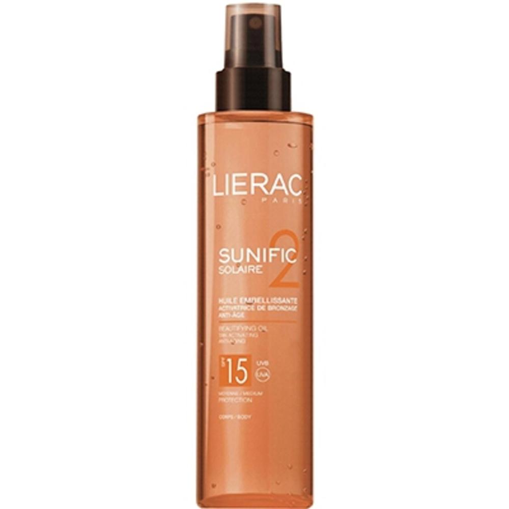 Lierac SUNIFIC Solaire Huile Embellissante SPF15 - 125.0 ml - Solaire Sunific - Lierac -143562