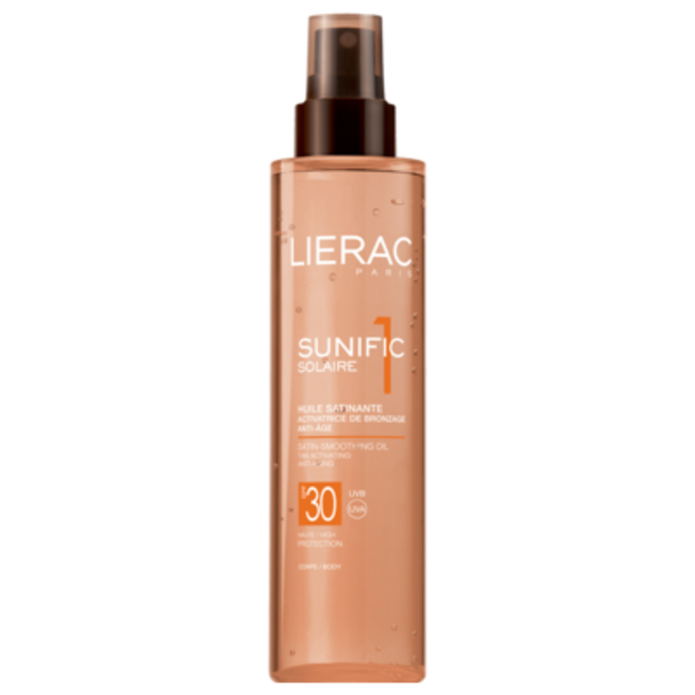 Lierac sunific solaire huile satinante spf30 - 125.0 ml - solaire sunific - lierac Activatrice de bronzage - Anti-âge corps -143560