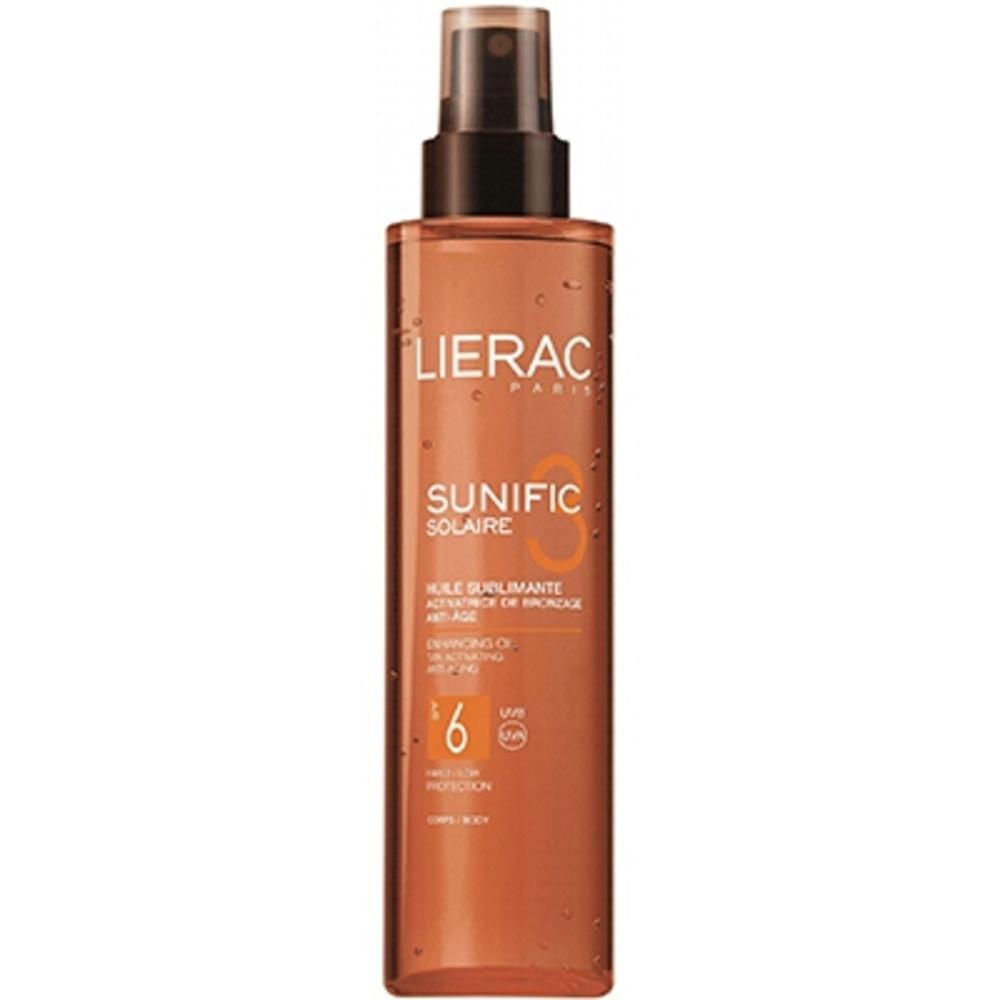Lierac sunific solaire huile sublimante spf6 - 125.0 ml - solaire sunific - lierac Activatrice de bronzage - Anti-âge corps-143563