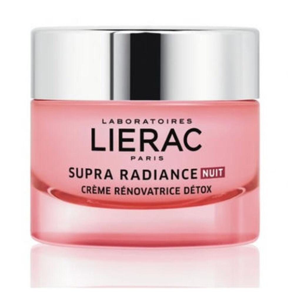 Lierac supra radiance nuit crème rénovatrice détox 50ml - lierac -220457