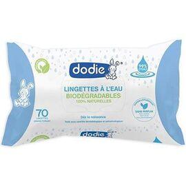 Lingettes à l'eau biodégradables x70 - dodie -224309