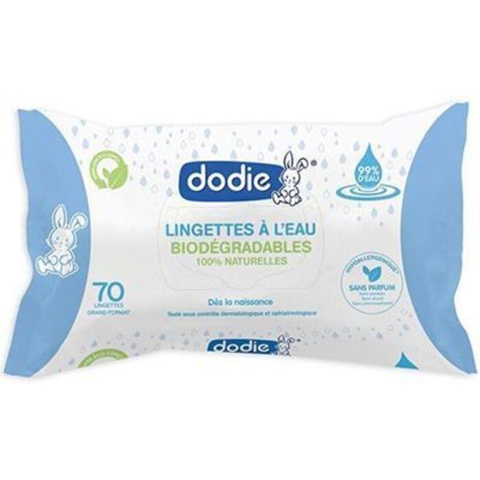 Lingettes à l'eau biodégradables x70 Dodie-224309
