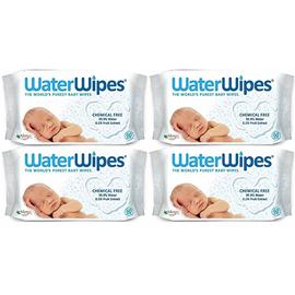 Lingettes bébé 100% naturelles - lot de 4 x 60 lingettes - waterwipes -221599