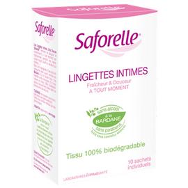 Lingettes intimes x10 - saforelle -13149
