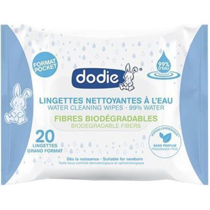 Lingettes nettoyantes à l'eau x20 Dodie-224308