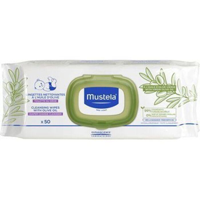 Lingettes nettoyantes à l'huile d'olive x50 Mustela-221208