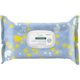 Lingettes nettoyantes douceur - 70 unités - bébé - klorane -223663