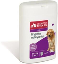 Lingettes nettoyantes oeil-oreille - 40.0 unites - soins des yeux et des oreilles - clement-thekan Chients et chats-10301