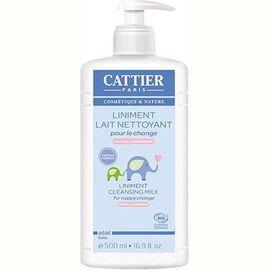 Liniment lait-crème change bébé bio 500ml - cattier -226159